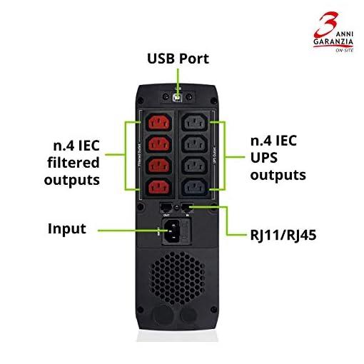 Tecnoware UPS EXA Plus 1500 Sistemas de alimentación ininterrumpida para Game PC y Consola - Alta Silenciosidad - 8… 4
