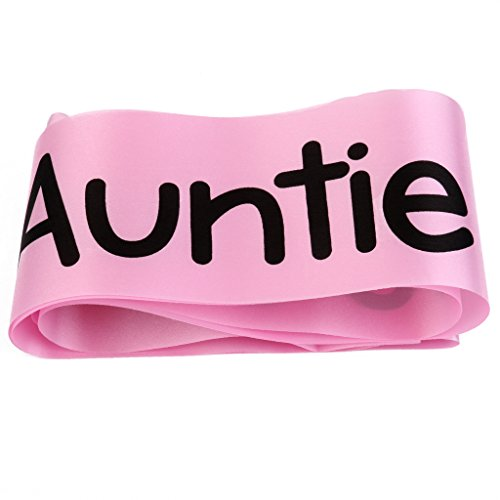 MagiDeal Auntie to be Writing Baby Shower Party Sash Pink by MagiDeal (Image #5)