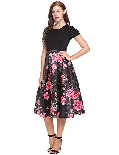 Unique Print Satin Dress - 6