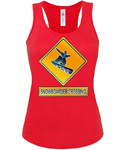 SNOWBOADER CROSSING mujer camiseta Tamaño S to XXL varios colores S-XL Rojo / Blanco