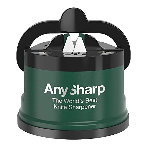 AnySharp Pro Knife Sharpener, Metal, Racing Green