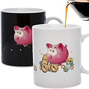 Amazon.com: InGwest. Cute Coffee Mug with Funny Pig ...