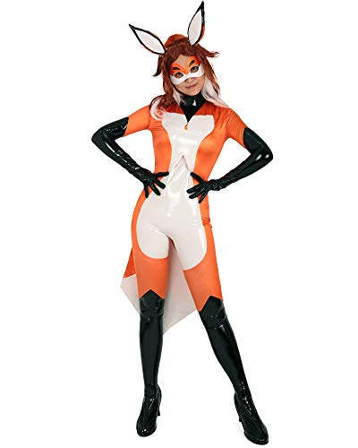 Cosplay.fm Women's Alya Fox Cosplay Costume Bodysuit (L, Orange) -