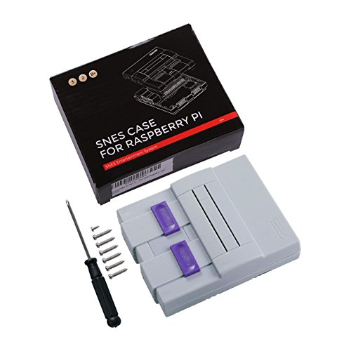 SNES Case for Raspberry Pi 3 B, 2 and B+,with Functional POWER and RESET Button and HeatSink,Retro Games Super NES Classic Case by Easyget (Image #6)