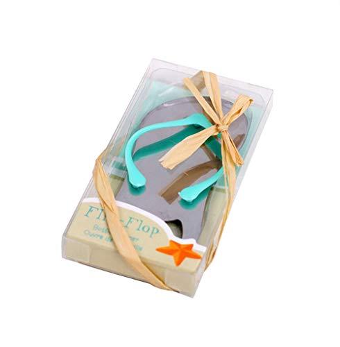 (Pop the Top Flip-Flop Bottle Opener For Wedding Party Favor Gift (Blue, 12))
