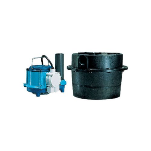 Little Giant WRSC-6 Compact Drainosaur Tank and Pump Combination - Drain Combination Outlet
