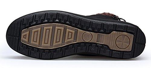 Caviglia Piatto Completamente Neve Stivali Stivali Boots Scarpe Pelliccia Di Inverno KOUDYEN Foderato Stivali Nero1 Donna All'aperto Caldi qwx6pTqOH0