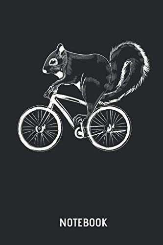 Squirrel Notebook: Cute Squirrel on Mountain Bike Lined Journal for Women, Men and Kids. Great Gift Idea for all Squirrel & Bicyle Lover.