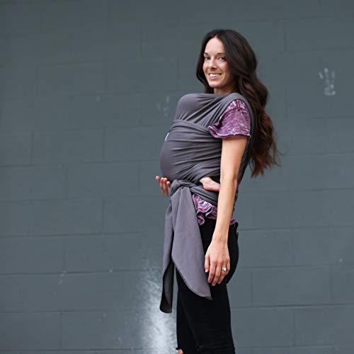 Baby Wrap Ergo Carrier Sling by Sleepy Wrap (Dark Grey)