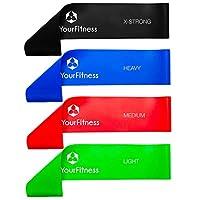 4er Set Fitnessband »Achilles«, Latex Loop-Band für Fitness, Reha und...