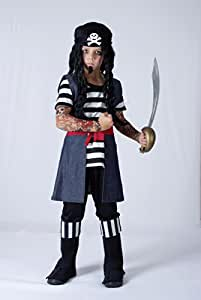 Disfraz de niño de Pirata con Tatuajes. 3 - 5 años