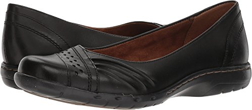 Shoes Skimmers Black Flats (Rockport Women's Haley Skimmer Loafer Flat, Black Leather, 9.5 W US)