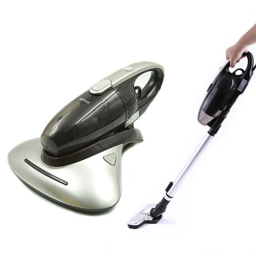 Skylar Handheld UV Vacuum Cleaner HEPA Filtration Powerful Suctions Eliminates Dust Mites,Ideal for Mattresses, Pillows, Curtains, Sofas and Carpets | with Crevice Tool/Brush