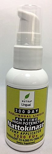 Anytime Nattokinase-High Potency-1,200 FUs (Equivalent to 4,000 FUs Oral Dose), Premium 300 DAY Sublingual Liquid Supplement --TAKE ANYTIME, NO FASTING OR EMPTY STOMACH REQUIRED!!