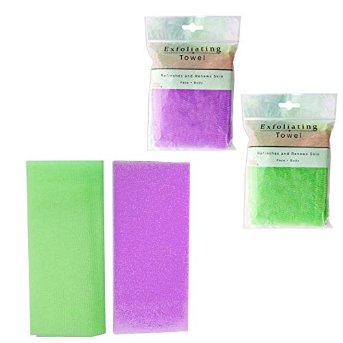 3 Pack Beauty Skin Cloths Exfoliating Nylon Shower Bath Body Towels Wash Scrub