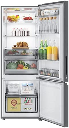 Haier 346L 3 Star Inverter Frost-Free Double Door Refrigerator (HRB-3664PRG-E, Rainbow Glass,14 in 1 Convertible-Bottom Freezer-2021)
