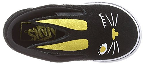 gold black Para Bunny Zx1 on Vans Niñas Zapatillas Slip Negro vTa4Oq78