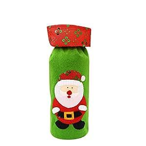 Scrox 100 pcs Bolsas de Caramelo Bolsita Bolsas de Regalo Navidad Marr/ón