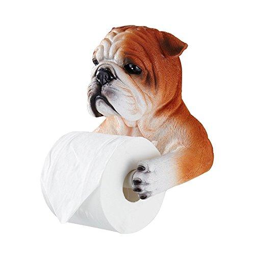 HTFGNC 3D Bulldog Toilet Paper Cover Holder Creative Paper Stand Tissue Dispenser Box