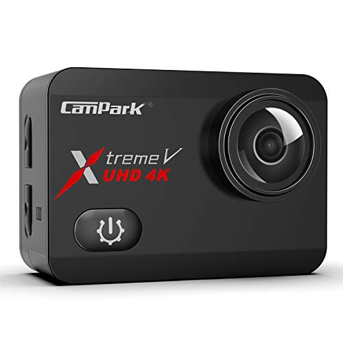 Campark X30 4K Action Camera 20MP EIS Anti Shake WiFi Touch Screen 1080p 120fps Sports Underwater 40m Waterproof Video Cam with Two 1350mAh Batteries Mounting Accessories