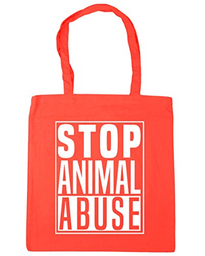 litres Stop x38cm Abuse Beach Bag 42cm Gym HippoWarehouse Tote Shopping Coral 10 Animal wxRdqAqPH