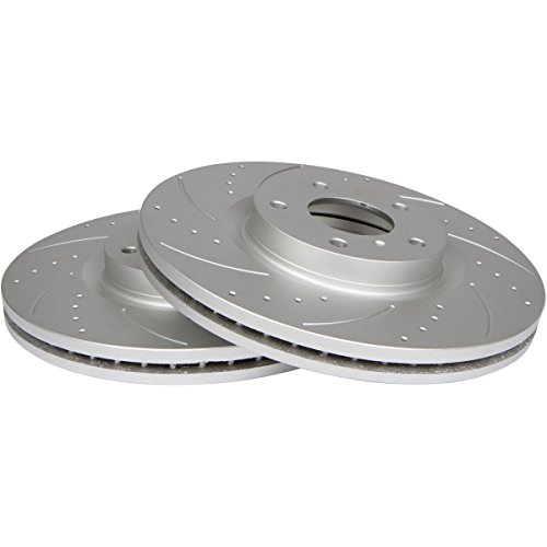 [Rear Kit] GT//Rotors Performance Brake Disc Rotors & Ceramic Pads for Subaru Impreza [2008-2011] WRX [2008-2014] Forester [09-13] Legacy | Outback 2.5i [10-14]
