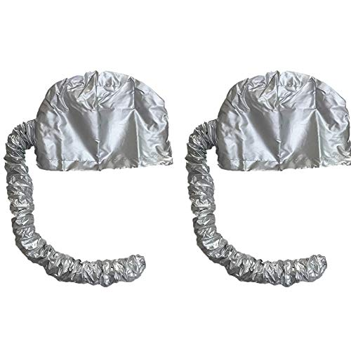 - Drying Hood Bonnet For Use With Hair Dryer Portable Soft Hood Attachment Easy To Use For Haired Women,2 Pcs,Silver