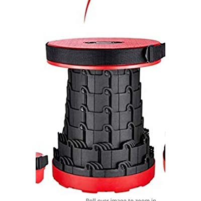 Coideal Retractable Folding Stool Portable Plastic Telescoping Camping Stools for Camp Adult Outdoor Travel Fishing Max Load 507lbs (Red) : Sports & Outdoors