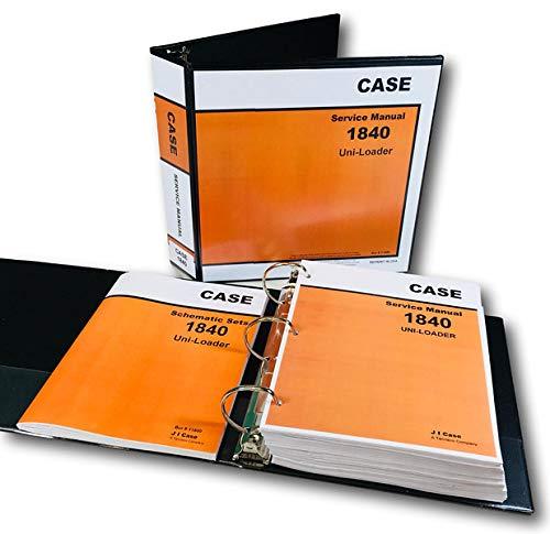 Case 1840 Uni-Loader Skid Steer Service Repair Schematics Manual Shop Book  Set