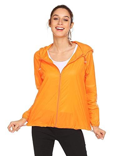 Solaire Respirant Softshell Capuche Chic Femmes Poche Pluie De Orange À Protection Mode Vêtements Étanche Pour Fonctionnelle Veste qZwIvgq