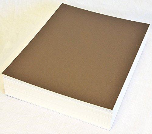 topseller100, Pack of 50 sheets 11x14 UNCUT matboard / mat boards (Brown)