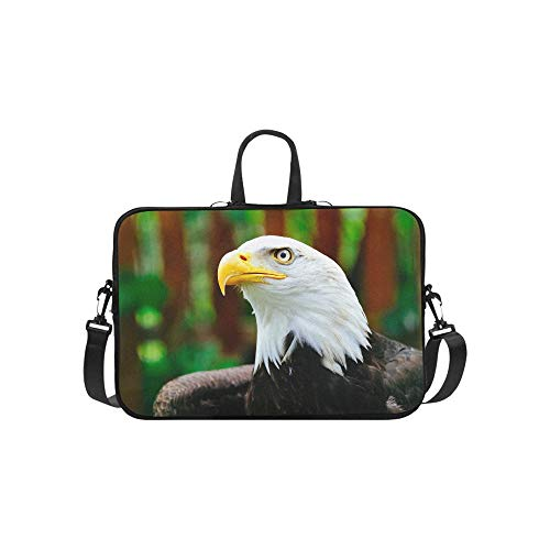 Northern Bald Eagle White Head Eagle Briefcase Laptop Bag Messenger Shoulder Work Bag Crossbody Handbag for Business Travelling