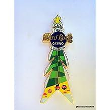 2004 Hard Rock Casino London United Kingdom Christmas Tree 'V' Guitar Pin