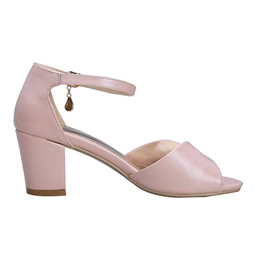 Pink Strap Sandals Women 15 Ankle Coolcept Fashion xqwaXRtwT