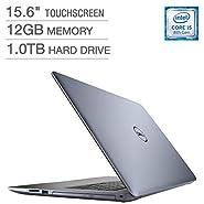 "Newest Dell Inspiron 15 5000 Flagship Premium 15.6"" Full HD Touchscreen Backlit Keyboard Laptop, Intel Core i5-8250U Quad-Core, 12GB DDR4, 1TB HDD, DVD-RW, Bluetooth 4.2, Windows 10, Blue"