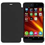 ECellStreet Flip Case Diary Folio Flap Case Cover For Micromax Canvas Juice 3 Q392 - Black
