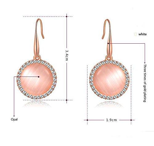 DUlijun Jin Gujing bijoux Boucles d'oreilles rose boucles d'oreilles