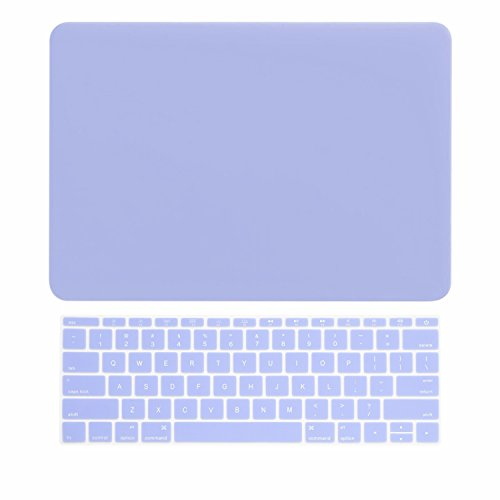 - TOP CASE - 2 in 1 Bundle Deal Rubberized Hard Shell Case Cover and Keyboard Cover Compatible with Apple MacBook 12