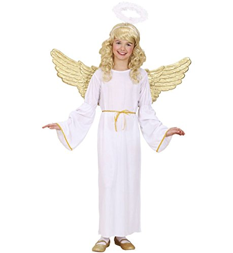 [RetailZone (Fancy Dress) Angel Nativity Costume Set 128Cm 5-7 Yrs White] (Nativity Costumes Set)