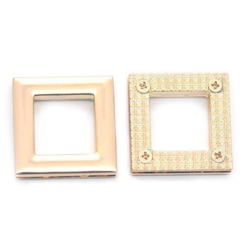(Fujiyuan 5 pcs 19mm Zinc Alloy Square Grommet Eyelet Canvas Leather Self Back Screw Bag Buckle Craft)