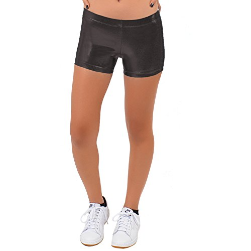 Stretch is Comfort Girl's Mystique Booty Shorts Black - Teamwear Usa