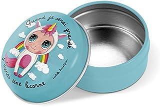 Label tour, Boîte à dents de lait en métal Licorne