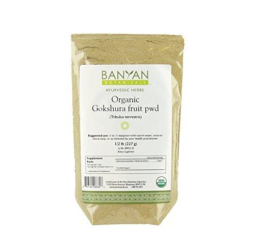 Banyan Botanicals Gokshura Пудра - Органический, 1/2 Pound - Tribulus Terrestris - Поддержка надлежащего функционирования мочевыводящих путей и предстательной железы *