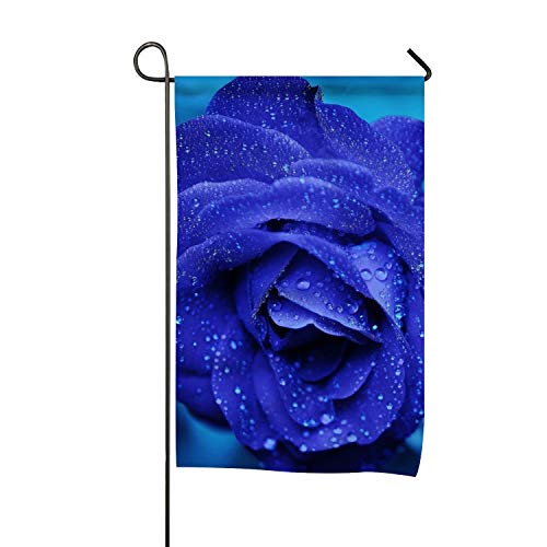 Flag Romantic Blue Rose Design, Campsite Flag, Motorhome Decor, Trailer Camping Flag, Garden Yard Decorations, Camp Host Flag, Outdoor Flag