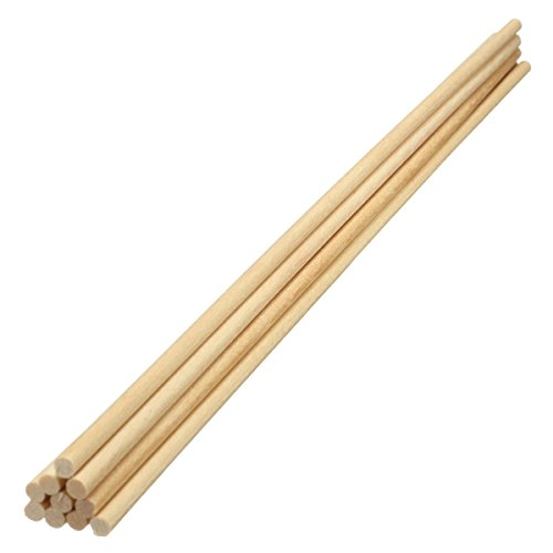 10x Wooden Sticks Dowels Poles Rods Sweet Tree Wood Stick for DIY Craft 20cm