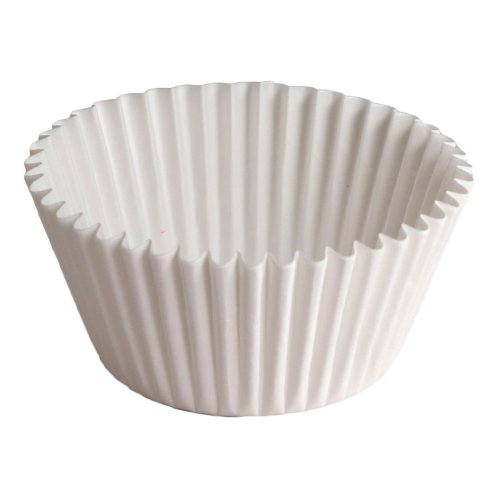 Hoffmaster BL200-5-1/2 Fluted Bake Cup, 3-1/2-Ounce Capacity, 5-1/2'' Diameter x 1-3/4'' Height, White (20 Packs of 500) by Hoffmaster