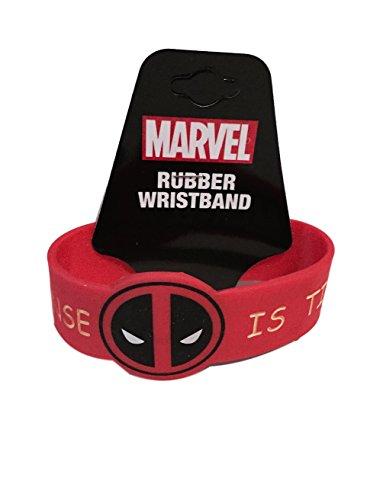 My Deadpool Costume (Deadpool My Common Sense Is Tingling Red PVC Costume Wristband)