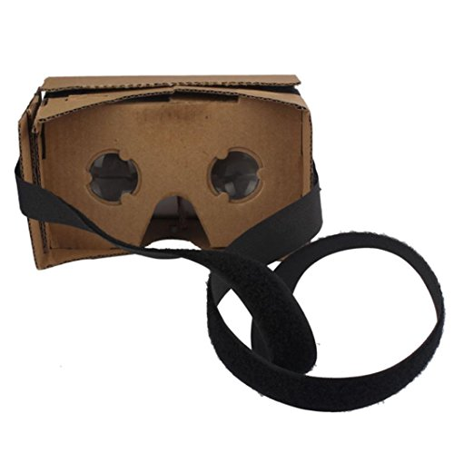 2016 Perman New for Google DIY Cardboard 3D Glasses VR Virtual Reality with NFC Headgear Fit 4-7 Inch Screen Smartphones, iPhone, Google, Nexus 6, Samsung Mobile Phones