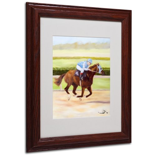 Michelle Moate Horse - Horse of Sport II Matted Artwork by Michelle Moate with Wood Frame, 11 by 14-Inch
