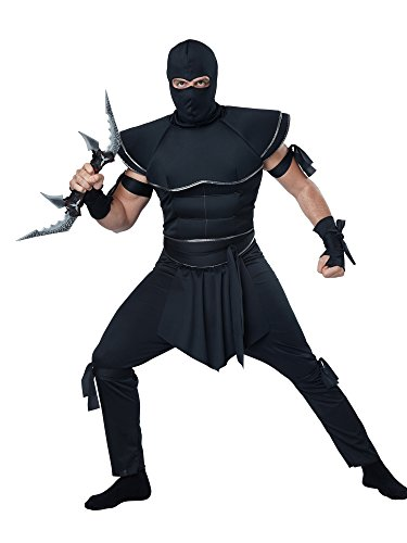 Black Stelth Ninja Men's Costume (XL) ()